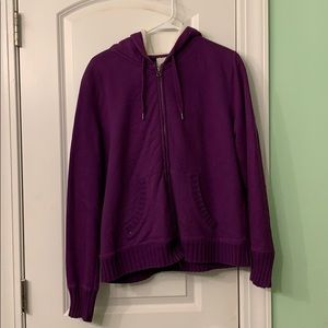 Large zipper hoodie jacket. Very warm!